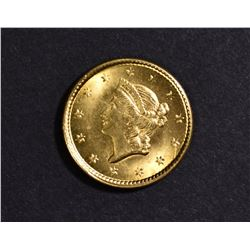 1851 $1 GOLD GEM BU