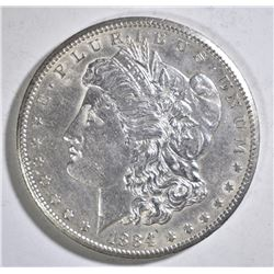 1884-CC MORGAN DOLLAR AU/BU