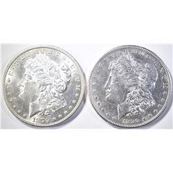 1879-S & 90-S MORGAN DOLLARS BU