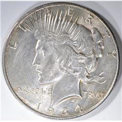 1934-D PEACE DOLLAR AU