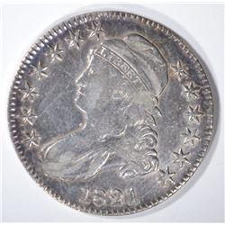 1821 BUST HALF XF