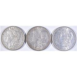 1880, 80-O & 80-S AU MORGAN DOLLARS