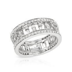 1.15 CTW Diamond Ring 14K White Gold - REF-94K2W