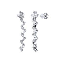1.24 CTW Diamond Earrings 14K White Gold - REF-83X2R