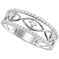 0.33 CTW Diamond Ring 10KT White Gold - REF-30N2F