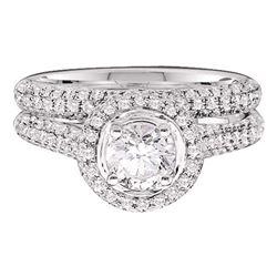 1.25 CTW Diamond Bridal Wedding Engagement Ring 14KT Yellow Gold - REF-134M9H