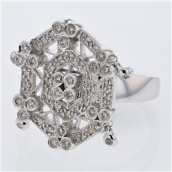 0.89 CTW Diamond Ring 14K White Gold - REF-98N4Y