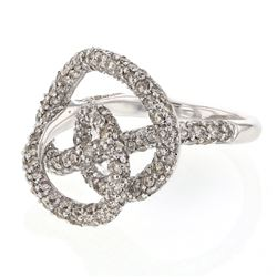2.68 CTW Diamond Ring 14K White Gold - REF-131N4Y