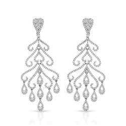 5.11 CTW Diamond Earrings 14K White Gold - REF-496W5H