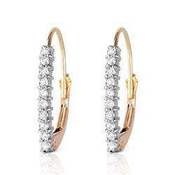 Genuine 0.30 ctw Diamond Anniversary Earrings Jewelry 14KT Yellow Gold - REF-48F9Z