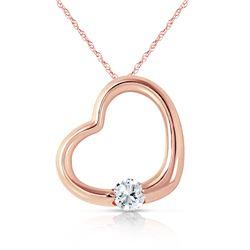 Genuine 0.25 ctw Diamond Anniversary Necklace Jewelry 14KT Rose Gold - REF-78F9Z