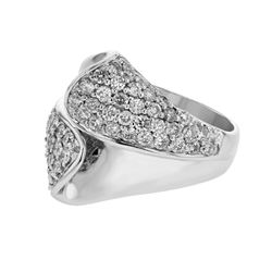 1.51 CTW Diamond Ring 18K White Gold - REF-183F2N