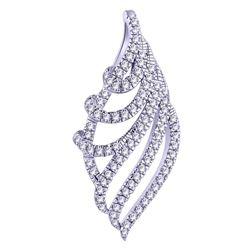 0.14 CTW Diamond Pendant 14K White Gold - REF-12N6Y