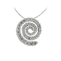0.75 CTW Diamond Necklace 14K White Gold - REF-51W5H
