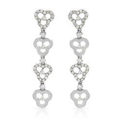 0.38 CTW Diamond Earrings 14K White Gold - REF-33H2M