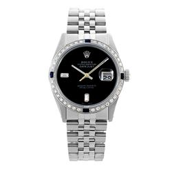 Rolex Pre-owned 36mm Mens Black Dial Stainless Steel - REF-580W3Y