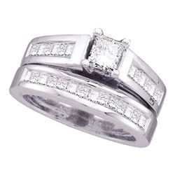 2 CTW Princess Diamond Bridal Engagement Ring 14KT White Gold - REF-352H4M