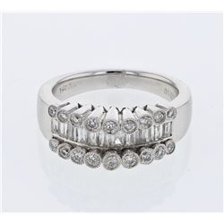 1.03 CTW Diamond Ring 14K White Gold - REF-121M3F