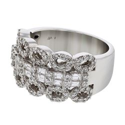 1.16 CTW Diamond Ring 18K White Gold - REF-160W7H
