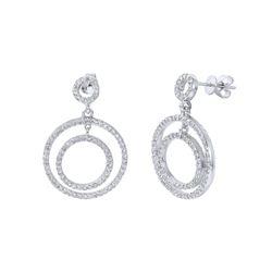 1.77 CTW Diamond Earrings 14K White Gold - REF-128F4N