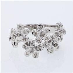0.35 CTW Diamond Ring 14K White Gold - REF-65R2K
