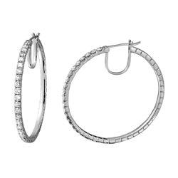 2.46 CTW Diamond Earrings 14K White Gold - REF-205F5N