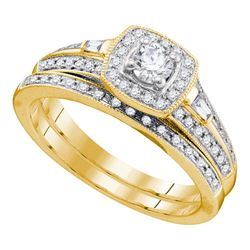 0.52 CTW Diamond Bridal Wedding Engagement Ring 10KT Yellow Gold - REF-52Y4X