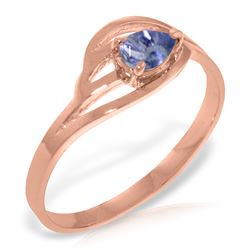 Genuine 0.30 CTW Tanzanite Ring Jewelry 14KT Rose Gold - REF-32N8R