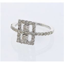 0.83 CTW Diamond Ring 14K White Gold - REF-42N2Y