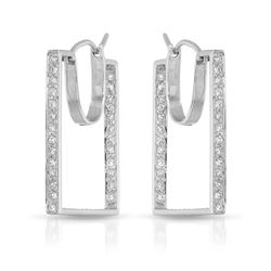 0.56 CTW Diamond Earrings 14K White Gold - REF-53F9N