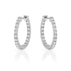0.95 CTW Diamond Earrings 14K White Gold - REF-69Y2X