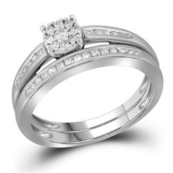 0.35 CTW Diamond Bridal Wedding Engagement Ring 10KT White Gold - REF-30N2F