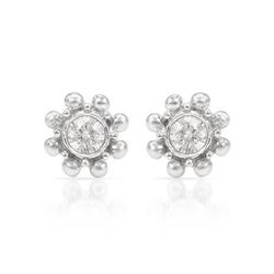 0.20 CTW Diamond Earrings 14K White Gold - REF-26Y6X