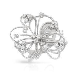0.99 CTW Diamond Ring 18K White Gold - REF-175H2M