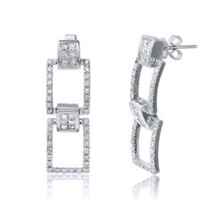 2.06 CTW Diamond Earrings 18K White Gold - REF-232K6W