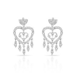 0.81 CTW Diamond Earrings 14K White Gold - REF-71W2H
