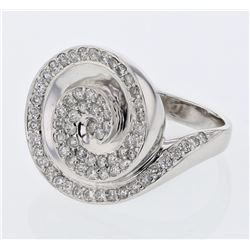 0.92 CTW Diamond Ring 18K White Gold - REF-138Y2X