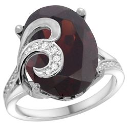 Natural 11.18 ctw ruby & Diamond Engagement Ring 14K White Gold - REF-96K8R
