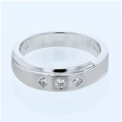 0.18 CTW Diamond Ring 18K White Gold - REF-90N3Y