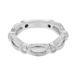 0.38 CTW Diamond Ring 18K White Gold - REF-64W7H