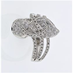 0.68 CTW Diamond Ring 18K White Gold - REF-102H2M