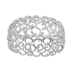 5.47 CTW Diamond Bangle 18K White Gold - REF-715X8R