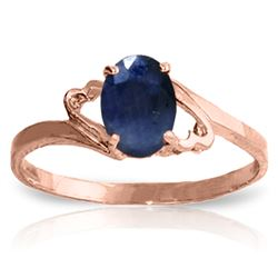 Genuine 1 ctw Sapphire Ring Jewelry 14KT Rose Gold - REF-22T3A