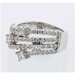 1.27 CTW Diamond Ring 18K White Gold - REF-145F2N