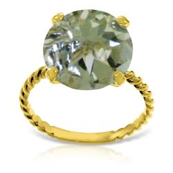 Genuine 4.8 ctw Amethyst Ring Jewelry 14KT Yellow Gold - REF-36N3R