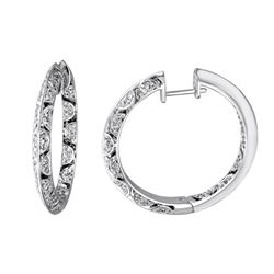 0.74 CTW Diamond Earrings 14K White Gold - REF-106W2H