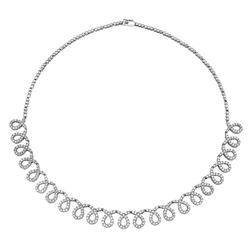 5.03 CTW Diamond Necklace 14K White Gold - REF-308H7M