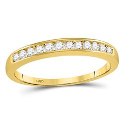 0.25 CTW Diamond Single Row Wedding Ring 14KT Yellow Gold - REF-31K4W