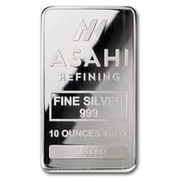 Genuine 10 oz 0.999 Fine Silver Bar - Asahi Refining