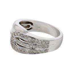 0.43 CTW Diamond Ring 14K White Gold - REF-57K8W